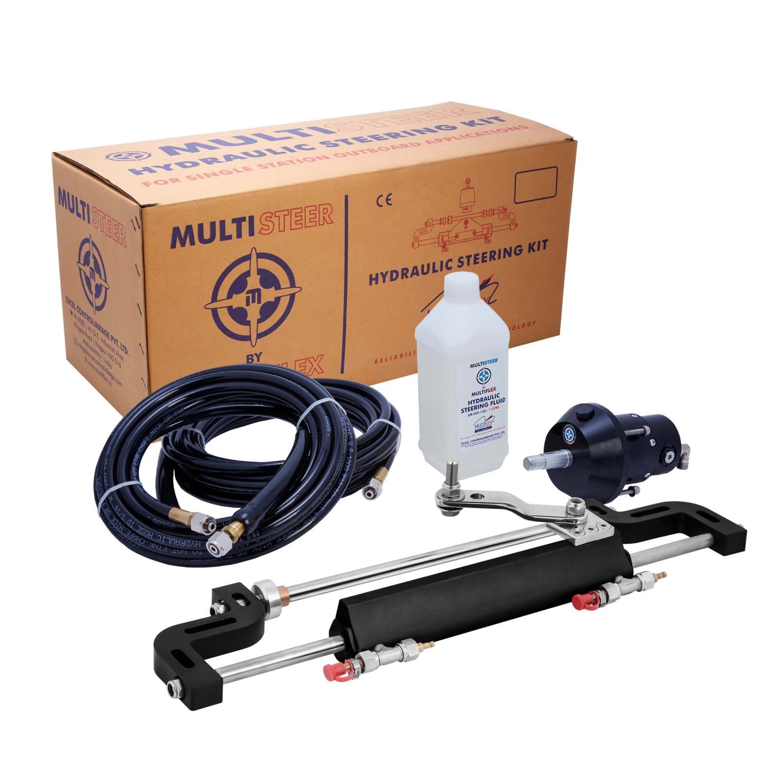 Multisteer Hydraulic Outboard Steering System up to 115hp