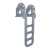Dock Ladder, 4 Step, Flip Up, LLDPE, Grey